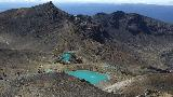 20 - The Emerald Lakes seen from Red Crater. It was in this area where it started to smell of rotten eggs..jpg